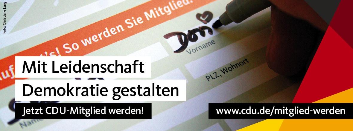 Foto: Mitglied werden, Copyright: CDU Deutschlands, Christiane Lang